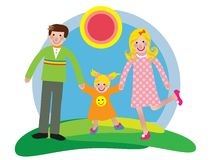Happy family. Colorful illustration of happy family Royalty Free Stock Images