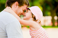 Happy family. Father with his dother, in love Royalty Free Stock Images