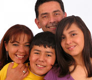 Happy Family. Over a white background