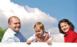 Happy family. Happy smiling family,parents and little girl Stock Images