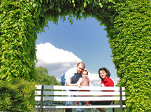 Happy family. Happy smiling family,parents and little girl Royalty Free Stock Photo