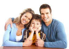 Happy family Stock Photos