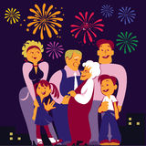 Happy family. Vector image of the happy family Royalty Free Stock Images
