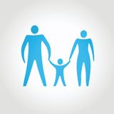 Happy family. abstract composition conceptual. Vector illustration Stock Photography