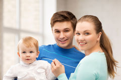Happy family with adorable baby Stock Photography