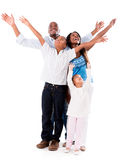 Happy family with arms open Stock Image
