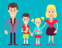Happy family art illustration. Royalty Free Stock Images