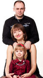 Happy Family As A Tower Royalty Free Stock Photo