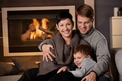 Free Happy Family At Home Stock Image - 25641821