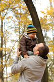 Happy family in autumn Stock Photography