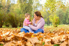 Happy Family Autumn Royalty Free Stock Images