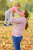 Happy Family Autumn outdoor Royalty Free Stock Photos