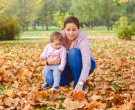Happy Family Autumn outdoor Royalty Free Stock Image