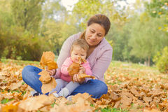 Happy Family Autumn outdoor Stock Image