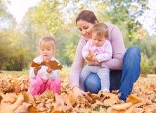 Happy Family Autumn outdoor Royalty Free Stock Photo