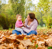 Happy Family Autumn outdoor Royalty Free Stock Photography