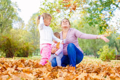 Happy Family Autumn outdoor Stock Photos
