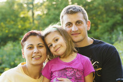 Happy Family in autumn Royalty Free Stock Photography