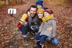 Happy family during autumn Royalty Free Stock Photo