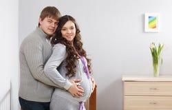 Happy family awaiting baby Royalty Free Stock Photography