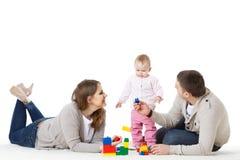 Happy family with  baby. Royalty Free Stock Photo