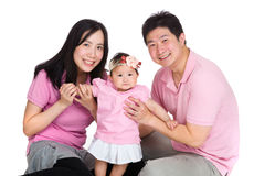 Happy family with baby daughter Stock Image