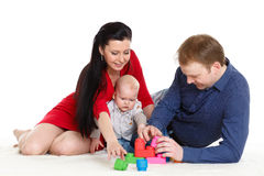 Happy family with  baby. Stock Photography