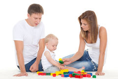 Happy family with  baby. Royalty Free Stock Photo