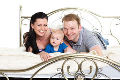 Happy family with baby. Stock Images