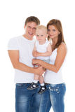Happy family with baby. Royalty Free Stock Photos