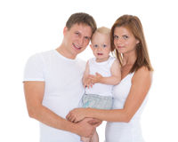 Happy family with baby. Royalty Free Stock Photography