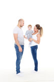 Happy family with baby. Royalty Free Stock Image