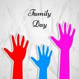 Happy Family background Stock Image