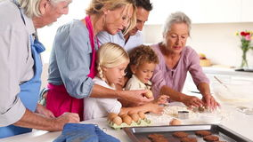 Happy family baking together Stock Photography