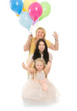 Happy family with balloons Royalty Free Stock Image