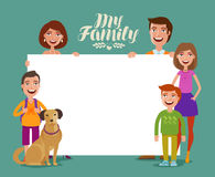 Happy family banner. Children and parents, concept. Cartoon vector illustration. Happy family banner. Children and parents, concept. Vector illustration vector illustration
