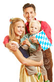Happy family in Bavaria Royalty Free Stock Photos