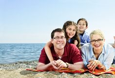 Happy family at beach Royalty Free Stock Image