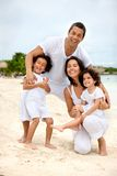Happy family at the beach Royalty Free Stock Images