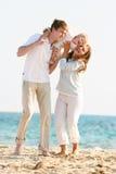 Happy family on beach Royalty Free Stock Photography