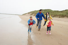 Happy family on beach Stock Photo