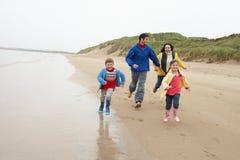 Happy family on beach Stock Photo