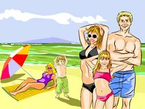 Happy family on the Beach Royalty Free Stock Photography