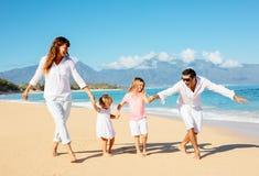 Happy Family on the Beach Stock Photography