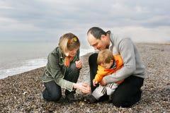 Happy family on beach Stock Photography