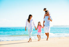 Happy Family on the Beach Stock Image