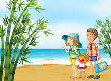 A happy family at the beach Royalty Free Stock Images