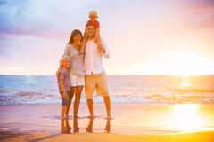 Happy Family on the Beach Royalty Free Stock Images
