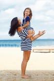 Happy family at beach Royalty Free Stock Image
