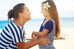 Happy family at beach Royalty Free Stock Photography